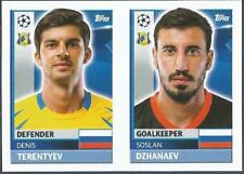 TOPPS CHAMPIONS LEAGUE-2016-17- #QFK03-04-ROSTOV-SOSLAN DZHANAEV/DENIS TERENTYEV