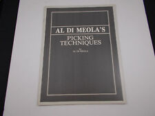 *  AL DI MEOLA'S PICKING TECHNIQUES SONGBOOK VINTAGE unused  stock