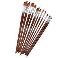 13 Piezas Artistas Set de pinceles de madera Mango de madera Nylon Hair