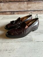 ALDEN Shell Cordovan Burgundy Tassel Loafers Size Size 12D