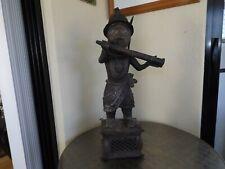 Vintage Benin Bronze Horn Blower