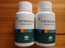 2 Bottles TIENS Spirulina Capsules Natural Pollution Free 250mg*100capsules