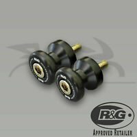 R&G Racing M8 BLACK Cotton Reels BMW S1000R (2018) - 2x Paddock Bobbins