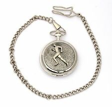 Male Runner Pocket Watch Gift Boxed With FREE ENGRAVING Running Gift 226