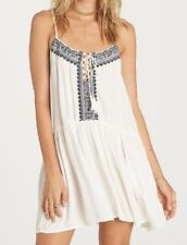 NWT WOMENS BILLABONG ENLIGHTENED EMBROIDERED BOHO SUMMER DRESS SUNDRESS M MEDIUM