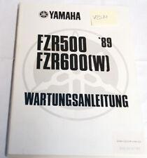 Yamaha FZR 500 600 '89 Wartungsanleitung Werkstatthandbuch Reparaturhandbuch