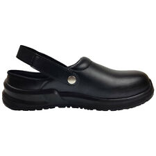 Blackrock Hygiene Clogs Safety Work Shoes Black Food Safe Steel Toe Cap (SRC02B)