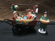 Dept 56 Chelsea Market Curiosities Monger & Cart Heritage Village Collection Nib