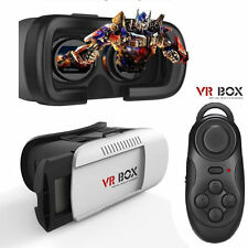 Virtual Reality VR Headset 3D Glasses with Remote for Android iPhone Samsung