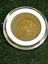 1876 H Canada Large Cent AU High grade Queen Victoria in Airtight Cap #DS11