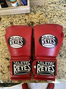 Cleto Reyes Hook and Loop Leather Training Boxing Gloves - RD - 16 oz - Preowned