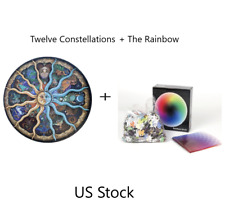 X2 1000 Piece Round Jigsaw Puzzle Twelve constellations plus The Rainbow