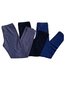 Bundle: 3 Basic Leggings Girls (Black, Navy, Jean)