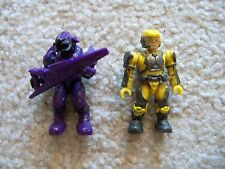 Mega Bloks Halo Soldiers - Rare Covenant Elite & Yellow Marine - Excellent