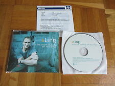 police STING If You Love Somebody 2002 UK / EU collectors CD single +GERMAN INFO