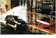 PUBLICITE ADVERTISING  2001  RENAULT  CLIO  (2 pages) série EXTREME