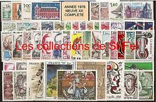ANNEE COMPLETE NEUVE XX 1979 TIMBRES LUXE