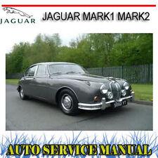 JAGUAR MARK1 MARK2 MKI MKII 1956-1969 SERVICE REPAIR MANUAL ~ DVD