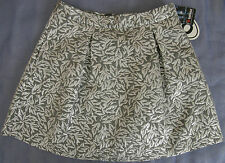 New Womens Behnaz Sarafpour Silver Leaf Skirt Size 7