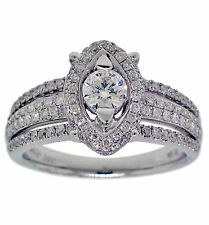 1.00ctw ANNIVERSARY/ENGAGEMENT DIA. RING 14k WHITE GOLD