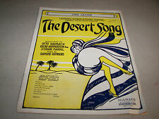 One Alone The Desert Song Sheet Music 1929 Harbach Hammerstein Ii Romberg