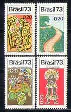 Brazil 1973 ITU-UIT/Carnival Cart/Road/Indian 4v n27984