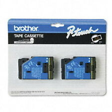 """2-Pack Brother TC-33 1/2"""" Gold on Black P-touch Label Tape 12mm TC33 New"""