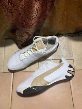 PUMA Ferrari Drift Cat Shoes Mens US 11 White Beige Leather Track Vintage 300947