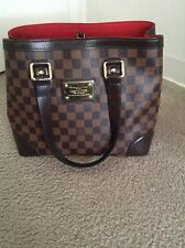 100% authentic Louis Vuitton Damier ebene canvas hampstead PM shopping tote bag