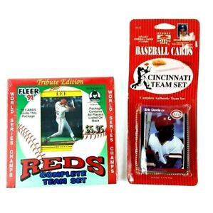 Lot of 2 1990 1991 CINCINNATI REDS Sets Sealed World Fleer Sports America Club