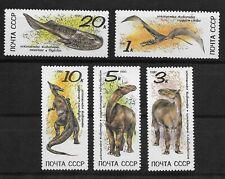 L3946 RUSSIA CCCP WILD ANIMALS 1990 MNH DINOSAURS