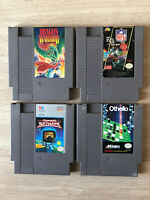 MINT CONDITION DRAGON WARRIOR NES 4 CARTRIDGE LOT OTHELLO!