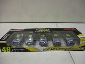 2010 Action Jimmie Johnson Five Time Champion Car Set 1/64