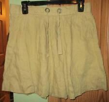 J. Crew Colored-linen Monterey khaki tan casual skirt misses size 2 pockets