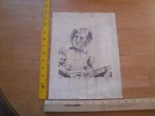 "1981 David LaBelle John Lennon signed print 9x12"""