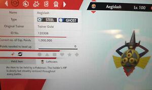 Shiny Aegislash 6IV Max EVs Competitive Pokemon Sword Shield Modest King Shield