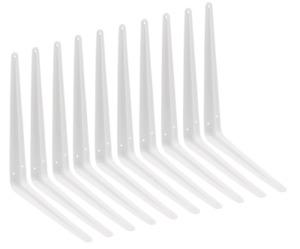 "London Shelf Bracket WHITE **Pack of 10** Metal Type 75mm / 3"" to 350mm14"""