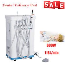 Portablemobile Dental Delivery Cart Unit Equipment Powerful Compressor Dhl