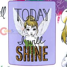 "Disney TinkerBell Plush Throw Microfiber Blanket Twin - Shine Today 46x60"""