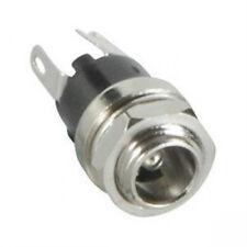 NEW DC Power Jack 2.1mm Panel Mount Bulkhead w/Switch (5 PCS)... USA Seller!!!