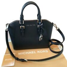 Neues AngebotMichael Kors Medium Schwarz Leder Handtasche Schulter Tasche Ciara