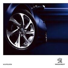 Peugeot Roues Wheels Alufelgen 2014 catalogue brochure 107 108 207 208 307 308