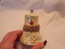 Vtg Glass Bell Christmas Ornament West Germany