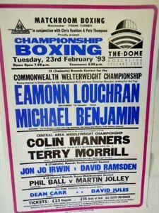 EAMONN  LOUGHRAN  V  MICHAEL  BENJAMIN   -   BOXING  POSTER - 1993