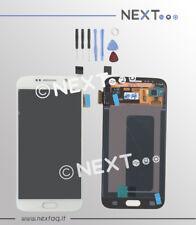 Schermo display touch screen biadesivo Samsung Galaxy S6 SM-G920F bianco + kit