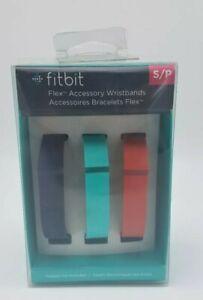 NIP!! Fitbit Flex 3-Pack Wristbands FB401BTNT Accessory Small Black Teal Green