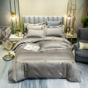 Bedding Duvet Cover Set 4Pcs Queen King Size Bedding Set Bed Sheet Pillowcases