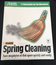 Aladdin Spring Cleaning 1999 Macintosh Software Sealed OS 7/8