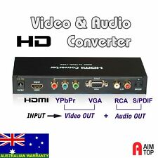 HDMI Input to YPbPr Component Video / VGA Out + Digital SPDIF & RCA Audio, HD