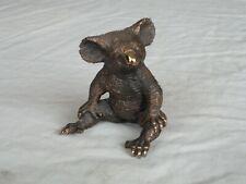 More details for koala bear figurine in solid cast bronze from australia